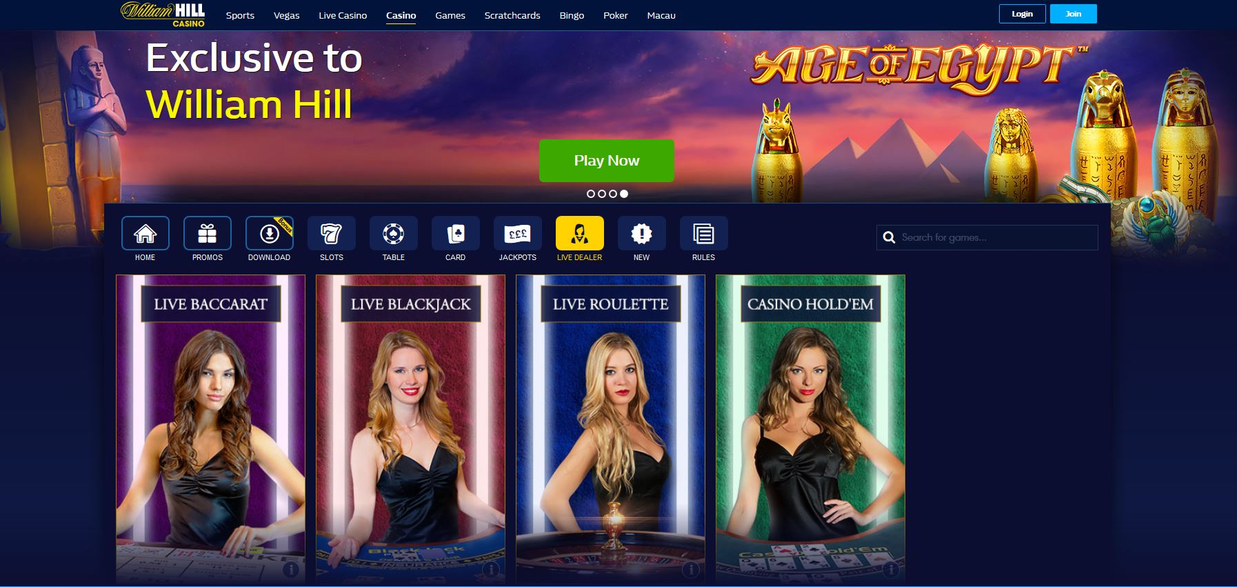 william hill casino loyalty points